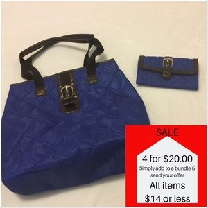 7ef344e56ea Handbags - Blue Nylon Purse Shoulder Bag purse w/ Wallet